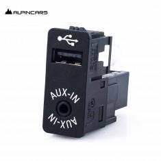 BMW F45 F48 F15 F16 F25 i3 i8 F55 F56 F60 USB/AUX-IN Buchse jack switch  9229247