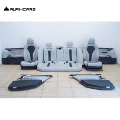 BMW F90 M5 G30 Innenausstatung Sitze Seats Interior Leder silverstone 6219km 4MA