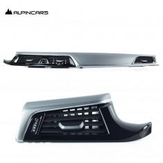 BMW 5r G30 G31 G38 Oxidsilber Dekorleistnen Satz Dashboard trims 9329515 9329513