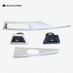 BMW 3' F30 F31 F32 F34 F35 F36 F83  Blenden I-Tafel Satin-silber Dashboard Trims