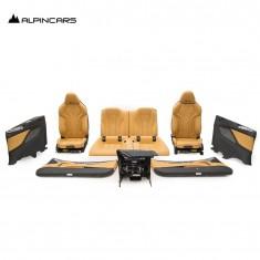 BMW F91 M8 G14 Innenausstatung Sitze Seats Interior Leder silverstone 24547km 4M