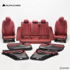 BMW G02 X4 tapicerka fotele środek skóra czarna