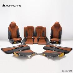 BMW G15 8 M850i Innenausstatung Leder Sitze Seats Interior Leather Tartufo/Black