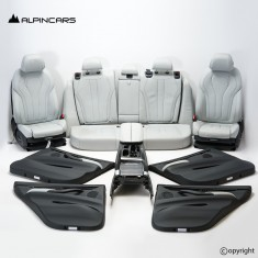 BMW F15 F85 X5M M Innenausstatung Sitze Seats Interior Leder SILVERSTONE 39346km