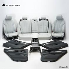 BMW F15 F85 X5M tapicerka fotele środek Silverston