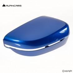 BMW 3er 3 G20 G21 Linke Spiegelabdeckung left mirror cover Portimao blue 8497435