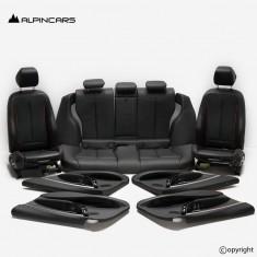 BMW F30 LCI Innenausstatung Leder Sitze schwarz Seats Interior set black  38km