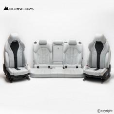 BMW F96 X6M G06 Innenausstatung Sitze Seats Interior Leather Merino  silverstone