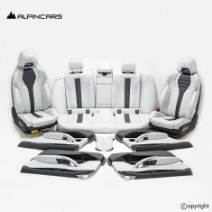 BMW F90 M5 G30 front seats Interior Leder merino silverstone