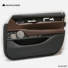 BMW G11 G12 LCI door panel leather heated mokka