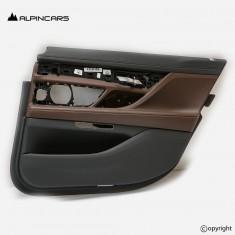 BMW 7 G12 tapicerka drzwi prawy tył nappa mokka
