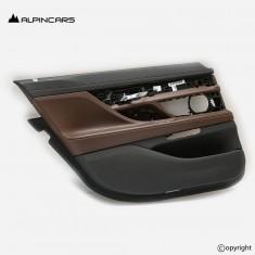 BMW 7 G12 tapicerka drzwi lewy tył nappa mokka