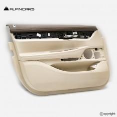 BMW G11 G12 LCI door panel leather heated elfenbein