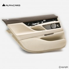 BMW 7 G12 door panel leather heated elfenbein coffe